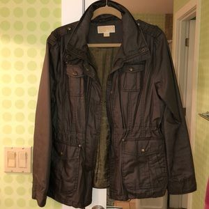 MICHAEL KORS DARK OLIVE RAIN JACKET